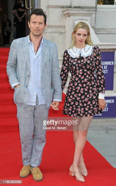 Robert Montgomery and Greta Bellamacina attend the opening night of Film4 Summer Screen at Somerset House featuring the UK Premiere of Pain And Glory...
