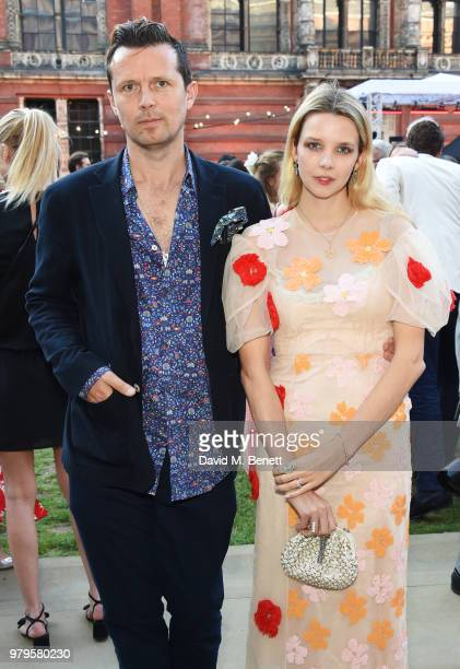 Robert Montgomery and Greta Bellamacina attend the Summer Party at the VA in partnership with Harrods at the Victoria and Albert Museum on June 20...