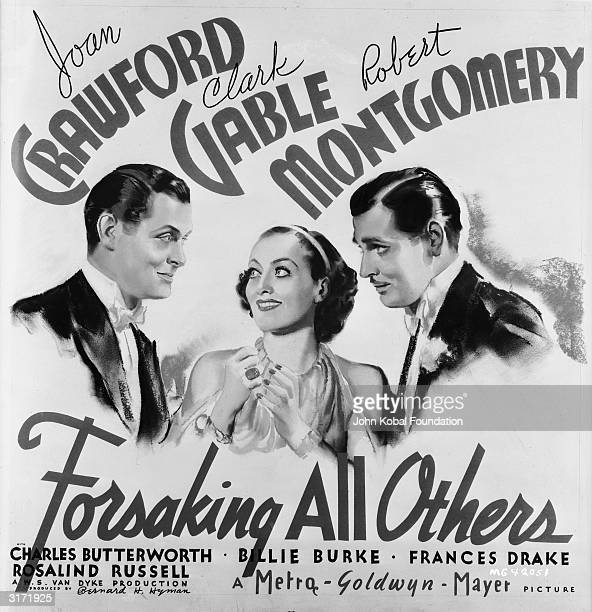 Robert Montgomery Joan Crawford and Clark Gable form a love triangle in the romantic comedy 'Forsaking All Others' directed by W S Van Dyke