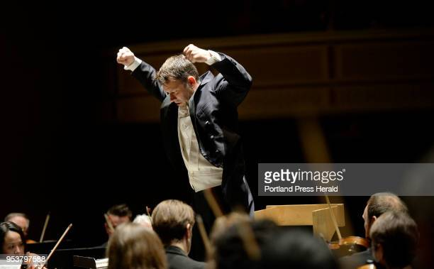 Robert Moody conducts the Portland Symphony Orchestra for the final time Tuesday May 1 2018 Moody has been with the Portland Symphony Orchestra for...