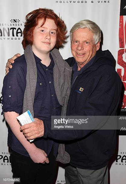 Robert Morse and son Charles attend the opening night of 'West Side Story' at the Pantages Theatre on December 1 2010 in Hollywood California