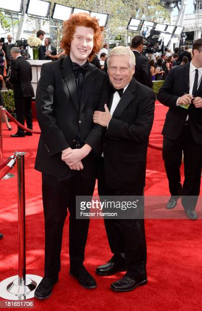 Robert Morse and son Charlie Morse arrives at the 65th Annual Primetime Emmy Awards held at Nokia Theatre LA Live on September 22 2013 in Los Angeles...