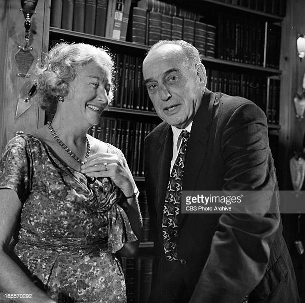 Robert Moses with his wife Mary on THE TWENTIETH CENTURY Episode 'The Happy Warrior' Image dated August 23 1961