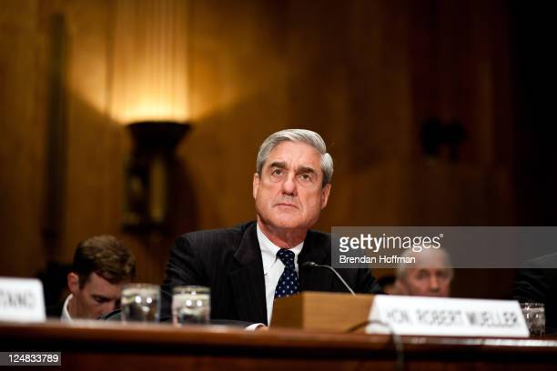 Robert Mueller director of the Federal Bureau of Investigation testifies at a hearing on Capitol Hill on September 13 2011 in Washington DC The...