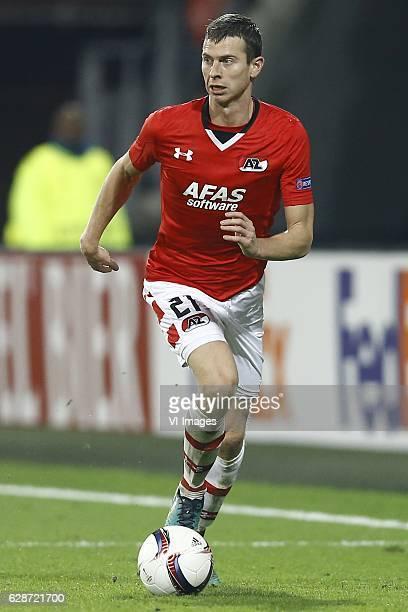 Robert Muhren of AZ Alkmaarduring the UEFA Europa League group D match between AZ Alkmaar and FC Zenit on December 08 2016 at the AFAS stadium in...