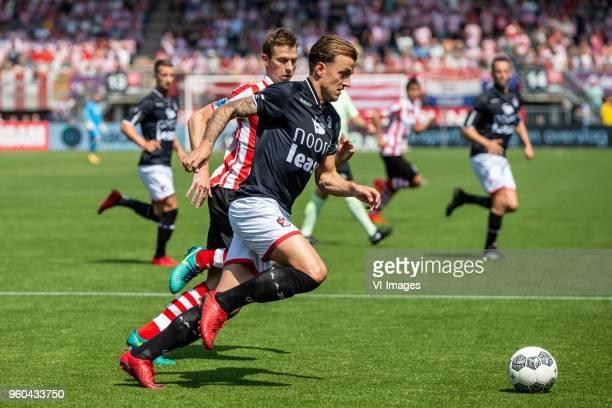Robert Muhren of Sparta Rotterdam Nick Bakker of FC Emmen during the Dutch Jupiler League playoffs final match between Sparta Rotterdam and FC Emmen...
