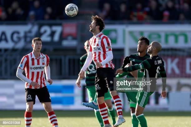 Robert Muhren of Sparta Rotterdam Nick Proschwitz of Sparta Rotterdam Renato Tapia of Feyenoord Karim El Ahmadi of Feyenoord during the Dutch...
