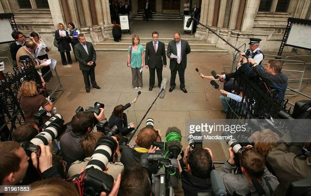 Robert Murat flanked by his lawyers speaks to reporters at the High Court on July 17 2008 in London England Mr Murat a suspect in the disappearance...