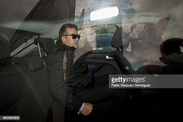 Robert Murat leaves Faro's Police Station during an investigation into the Madeleine McCann case on December 12 2014 in Faro Portugal British Police...