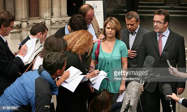Robert Murat speaks to reporters at the High Court on July 17 2008 in London England Mr Murat a suspect in the disappearance of Madeleine McCann had...