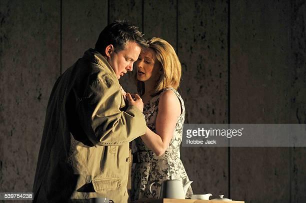 Robert Murray as Idamante and Sarah Tynan as Ilia in English National Opera's production of Wolfgang Amadeus Mozart's Idomeneo directed by Katie...