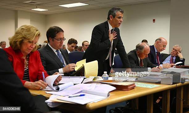 Robert N Klieger attorney for Sumner Redstone gives rebuttal testimony before Judge George Phelan not pictured Attorneys representing various...