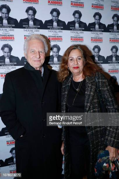 Robert Namias and Anne Barrere attend the Plaidoiries Theater Play at Le Comedia Theatre Libre on December 06 2018 in Paris France