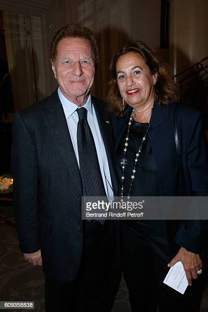 Robert Namias and his wife Anne Barrere attend the Charity Dinner to Benefit 'Claude Pompidou Foundation' following the Cezanne et Moi movie Premiere...