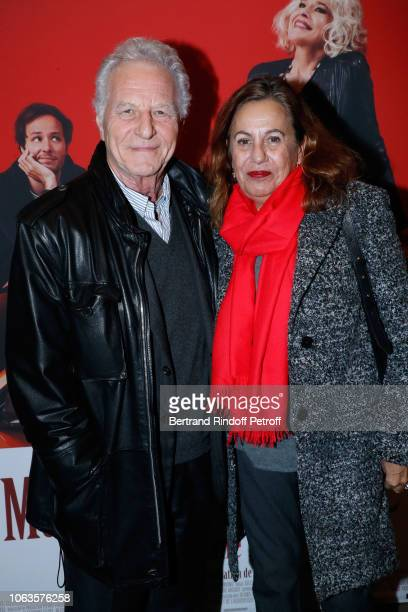 Robert Namias and his wife Anne Barrere attend the Ma mere est folle Private Projection at Elysee Biarritz on November 19 2018 in Paris France