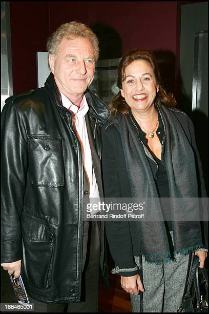 Robert Namias and his wife Anne Barrere Premiere of the movie Pardonnez Moi written and produced by Maiwenn at the Publicis on the Champs Elysees
