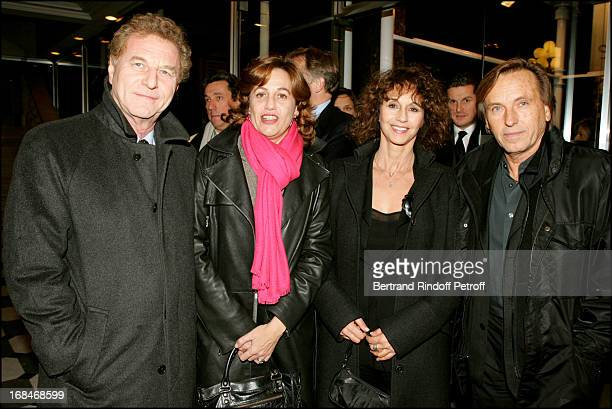 Robert Namias Anne Barrere and Alexandre Arcady at Fashion Against AIDS Party In Paris
