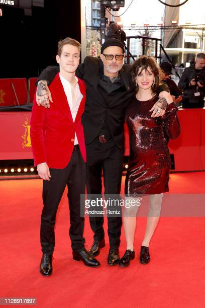 Robert Naylor Denis Cote and Larissa Corriveau attend the Ghost Town Anthology premiere during the 69th Berlinale International Film Festival Berlin...