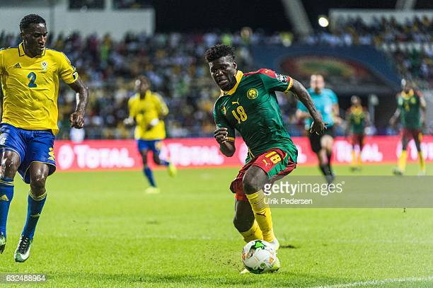 Robert Ndip Tambe of Cameroon during the African Nations Cup match between Cameroon and Gabon at Stade de L'Amitie on January 22, 2017 in Libreville,...