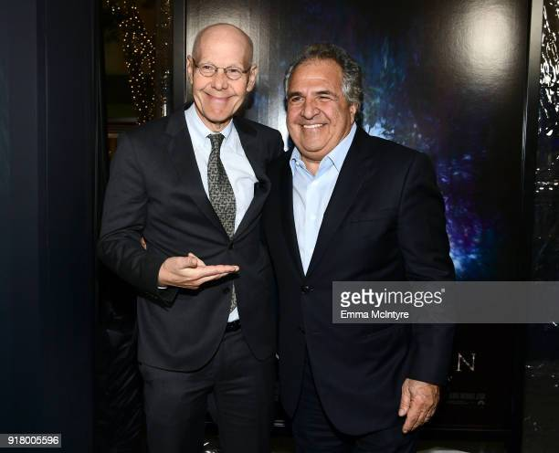 Robert Newman and Chairman/CEO of Paramount Motion Picture Group Jim Gianopulos attend the premiere of Paramount Pictures' 'Annihilation' at Regency...