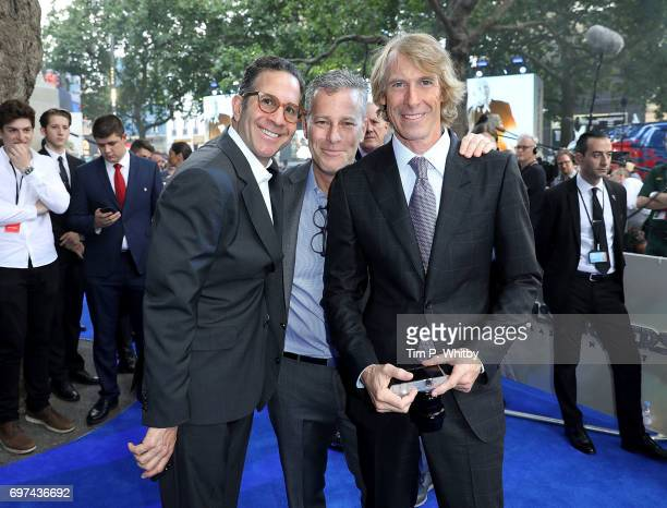 Robert Offer producer Bradley Fuller and director Michael Bay attend the global premiere of 'Transformers The Last Knight' at Cineworld Leicester...