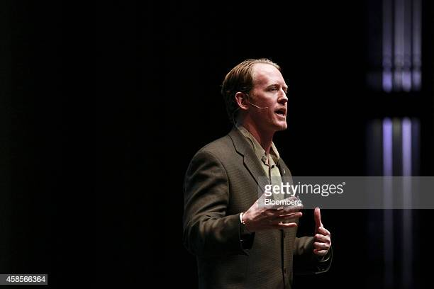 Robert O'Neill a former US Navy SEAL speaks at the 'Best of Blount' Chamber of Commerce awards ceremony at the Clayton Center for the Arts in...