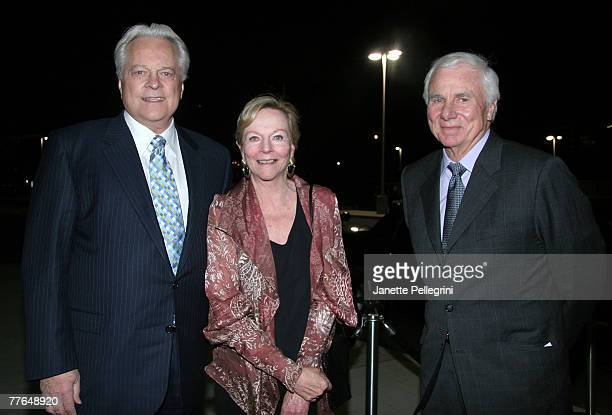Robert Osborne Ava Astaire McKenzie and husband Richard McKenzie arive at the Hooray for Hollywood Gala to Benefit The Auditory Oral School of New...