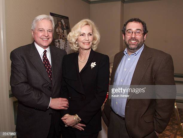Robert Osborne left network host of Turner Classic Movies Cheryl Crane daughter of Hollywood legend Lana Turner and Tom Karsch executive vice...