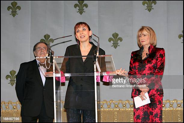 Robert Parienti Nathalie Dessay and Eve Ruggieri Gala dinner organized by Pasteur Weizmann at Versailles to honour Maria Callas