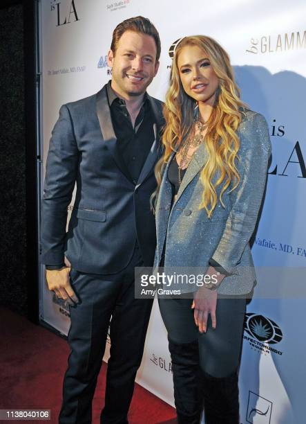 Robert ParksValletta and Antje Utgaard attend the This is LA Season 3 Premiere Party at Yamashiro Hollywood on April 18 2019 in Los Angeles California