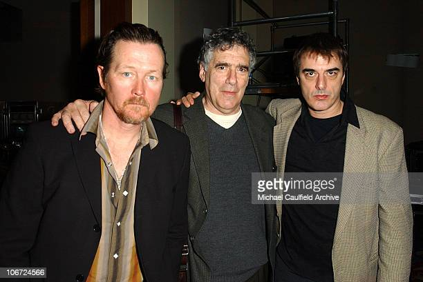 Robert Patrick Elliott Gould and Chris Noth during Turner Presentation of a TNT Original Film Bad Apple at the Television Critics Association Meeting...