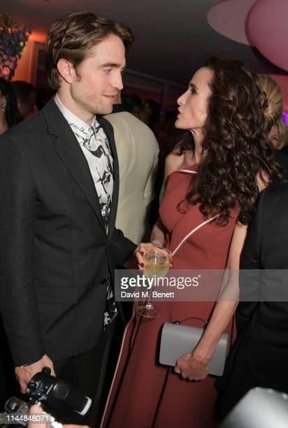 Robert Pattinson and Andie MacDowell attend the Vanity Fair and Chopard Party celebrating the 72nd Annual Cannes Film Festival at Hotel du CapEdenRoc...