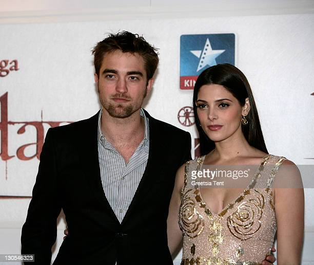 Robert Pattinson and Ashley Greene attend the premiere of The Twilight Saga Breaking Dawn at Square Brussels on October 26 2011 in Brussel Belgium