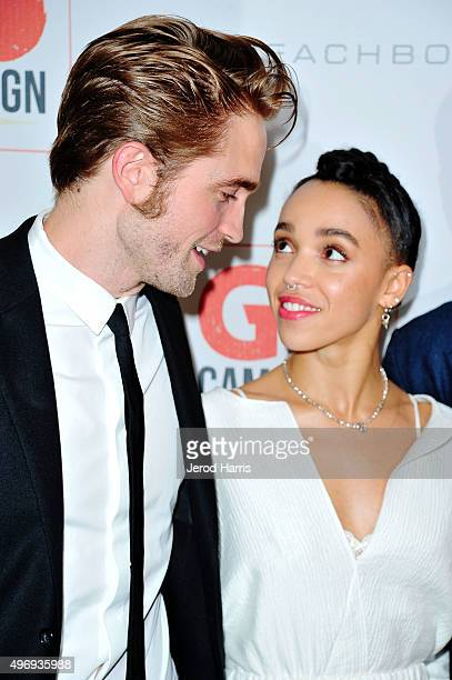 Robert Pattinson and FKA twigs arrive at the 8th Annual GO Campaign Gala at Montage Beverly Hills on November 12 2015 in Beverly Hills California