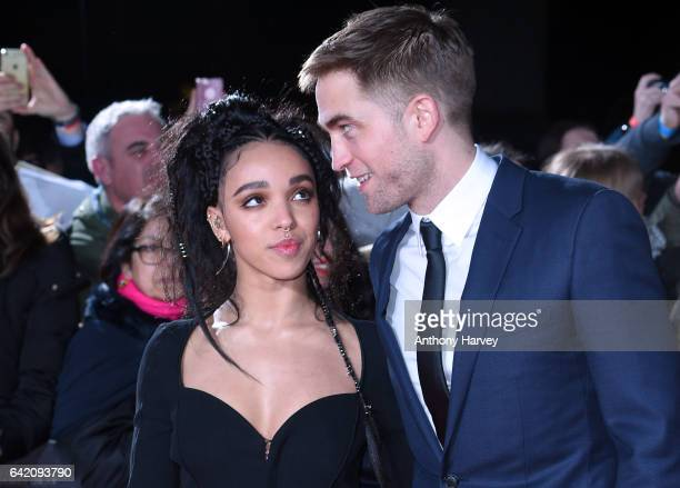 Robert Pattinson and FKA Twigs arrive at The Lost City of Z UK premiere on February 16 2017 in London United Kingdom