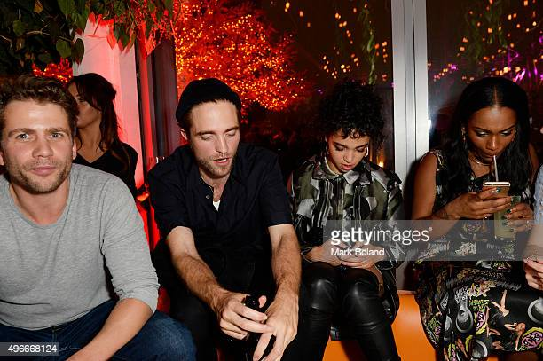 Robert Pattinson and FKA Twigs attend SUSHISAMBA third anniversary party on November 10 2015 in London England