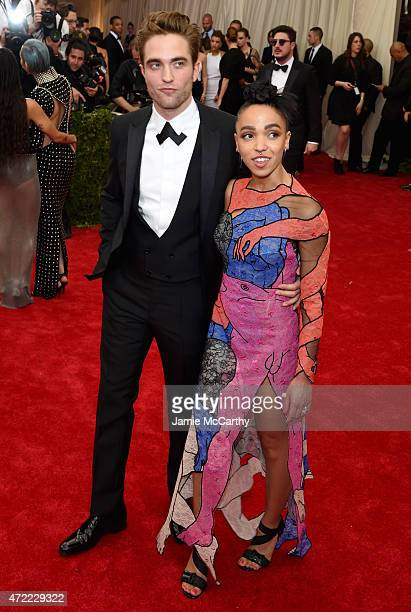 """Robert Pattinson and FKA Twigs attend the """"China: Through The Looking Glass"""" Costume Institute Benefit Gala at the Metropolitan Museum of Art on May..."""