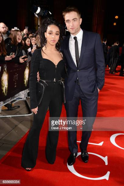 Robert Pattinson and FKA Twigs attend the UK premiere of The Lost City of Z at British Museum on February 16 2017 in London England
