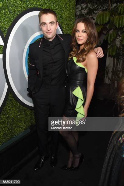 Robert Pattinson and Kate Beckinsale attend the 2017 GQ Men of the Year party at Chateau Marmont on December 7 2017 in Los Angeles California