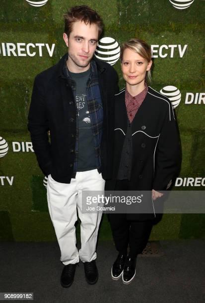 Robert Pattinson and Mia Wasikowska attend the Damsel dinner at DIRECTV Lodge presented by ATT during Sundance Film Festival 2018 on January 22 2018...