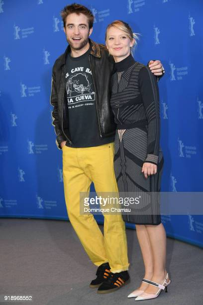 Robert Pattinson and Mia Wasikowska pose at the 'Damsel' photo call during the 68th Berlinale International Film Festival Berlin at Grand Hyatt Hotel...