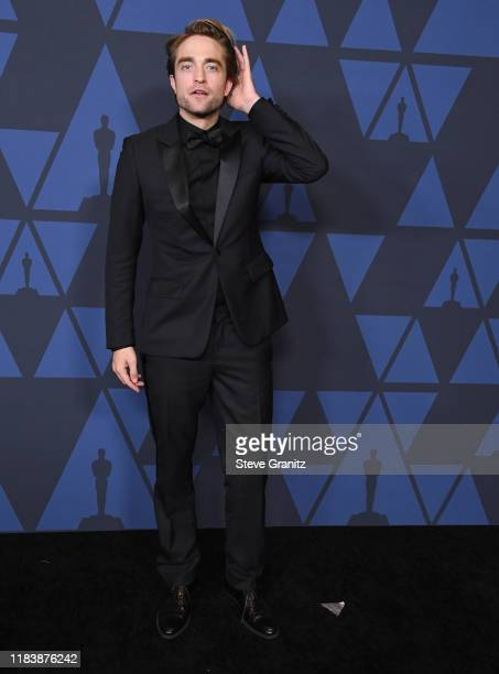 Robert Pattinson arrives at the Academy Of Motion Picture Arts And Sciences' 11th Annual Governors Awards at The Ray Dolby Ballroom at Hollywood &...
