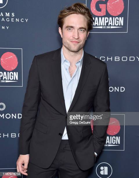 Robert Pattinson arrives at the Go Campaign's 13th Annual Go Gala at NeueHouse Hollywood on November 16 2019 in Los Angeles California