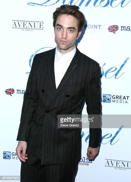 Robert Pattinson arrives at the Magnolia Pictures' 'Damsel' Premiere at ArcLight Hollywood on June 13 2018 in Hollywood California