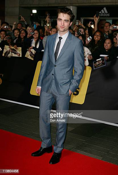 Robert Pattinson arrives at the Water for Elephants Sydney Premiere at the State Theatre on May 6 2011 in Sydney Australia