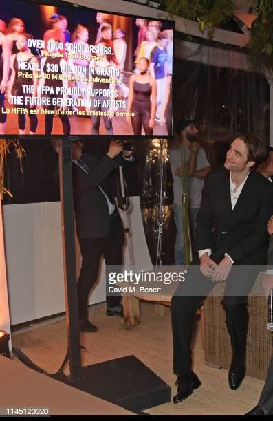 Robert Pattinson at Nikki Beach for the HFPA Participant Media event honoring Help Refugees on May 19 2019 in Cannes France