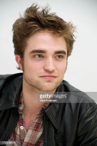 Robert Pattinson at The Twilight Saga New Moon press conference at Four Seasons Hotel on November 6 2009 in Beverly Hills California