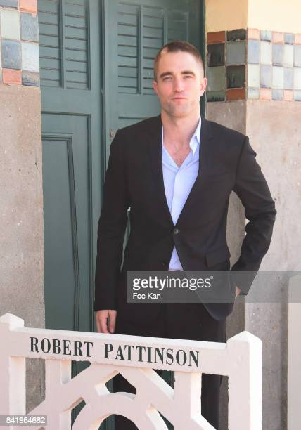 Robert Pattinson attends Robert Pattinson Photocall the 43rd Deauville American Film Festival at Les Planches de Deauville on September 2 2017 in...