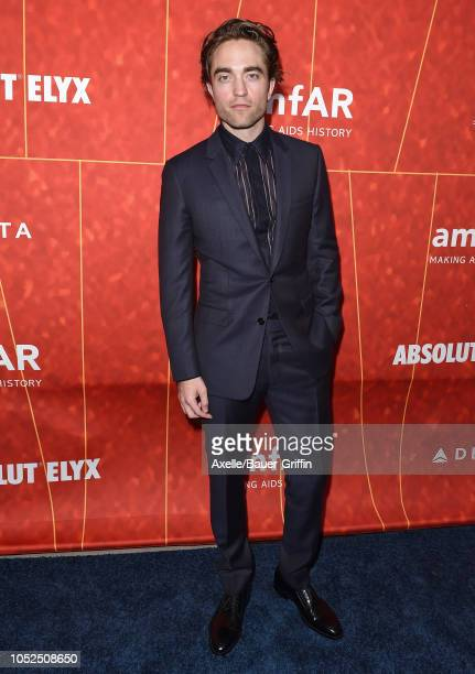 Robert Pattinson attends the amfAR Gala Los Angeles 2018 at Wallis Annenberg Center for the Performing Arts on October 18 2018 in Beverly Hills...