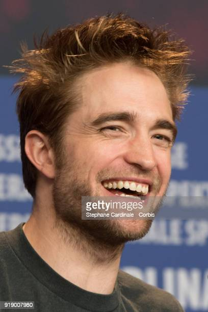 Robert Pattinson attends the 'Damsel' press conference during the 68th Berlinale International Film Festival Berlin at Grand Hyatt Hotel on February...